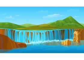 卡通七彩夏日自然景观模板_9587593