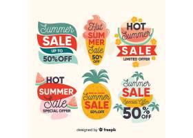 五颜六色的夏季打折标签系列_4651843