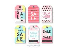 五颜六色的夏季打折标签系列_4740710