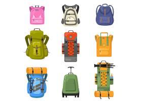 五颜六色的背包套装上学野营徒步旅行_10606229