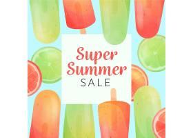 你好夏季大减价有酸橙和冰棒_7942608