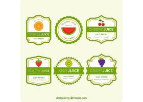 一套带有绿色元素的果汁标签_1112381