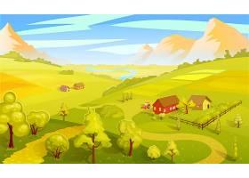 五彩缤纷的夏季景观模板_9586918