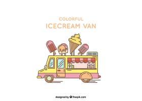 五颜六色的冰激凌车_795542