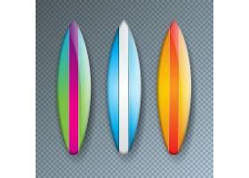 五颜六色的冲浪板材收藏隔离在透明上_5086805