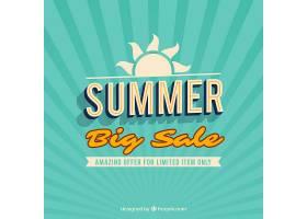 复古风格的夏季销售背景_2174965