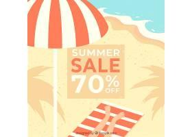 复古风格的夏季销售背景_2174970
