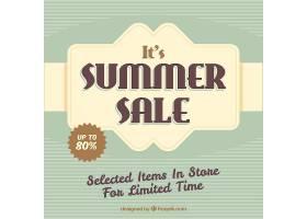 复古风格的夏季销售背景_2199945