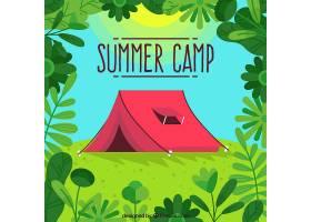 夏令营背景为红色帐篷_2217288