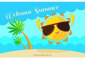 你好阳光明媚的夏日背景_2353603
