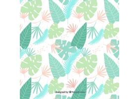具有不同植物的热带模式_2295156