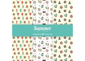 具有平面元素的夏季图案的多样性_1122802