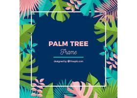 五颜六色的热带树叶背景_1109847