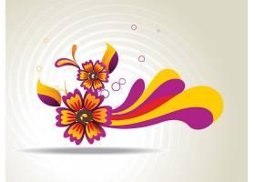 五颜六色的抽象花卉背景_1216342
