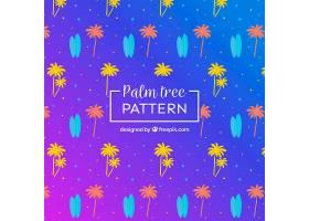 五颜六色的棕榈树图案_1109117