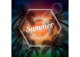 享受夏日六边形设计背景_1107736