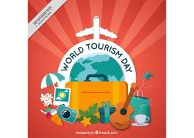 以旅游元素为主题的世界旅游日背景_915532
