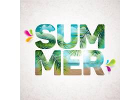 以棕榈树为背景的夏季字母_1107735