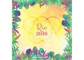 2016里约奥运会背景带树叶框架_898901