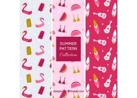一包三件粉红色的夏装图案_1134526