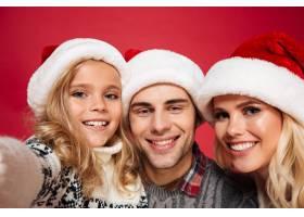 一个幸福美满的家庭的特写肖像_7440875