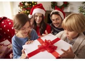 一家人在家里过圣诞节_11820237
