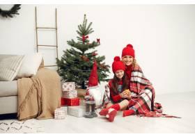 人们在为圣诞节做准备母亲和女儿一起玩耍_11777783
