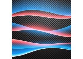 黑色背景上优雅的抽象形状_1086870