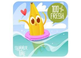 香蕉游泳背景_1124723