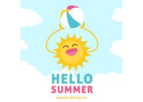 阳光明媚的夏日背景_2179614