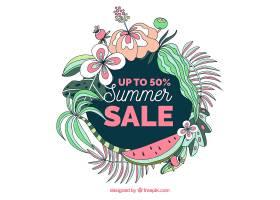 美丽的花卉夏季销售背景_2152799
