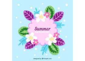 美丽的花卉夏日背景_2229216