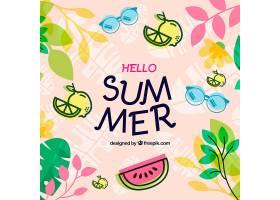 美味夏日水果背景_2147263