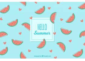 美味夏日水果背景_2147265