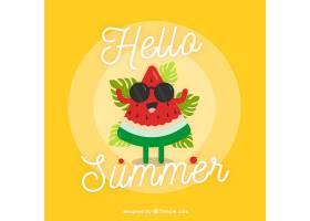美味的夏日水果背景_2147262
