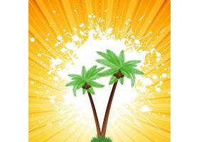 肮脏的日光背景下的棕榈树_897836