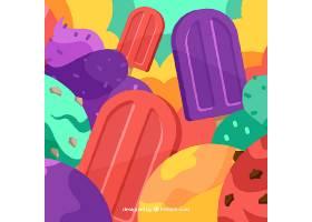 色彩斑斓的冰激凌背景_1171476