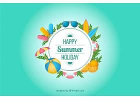色彩斑斓的夏日背景_2306174