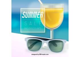 现实主义风格的夏季销售背景_2352797