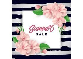 粉红色花卉夏季促销背景_1124531