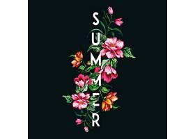 美丽的夏日背景带着水彩画的花朵_2259081