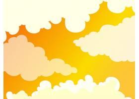 美丽的多云金色天空背景_2178939