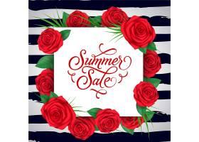 红花夏季销售背景_1124532
