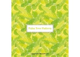 绿色棕榈叶的装饰背景_1174723