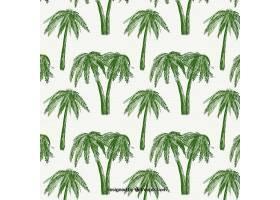 绿色棕榈树装饰图案_1111441
