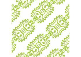 绿色背景带有花卉元素_912257