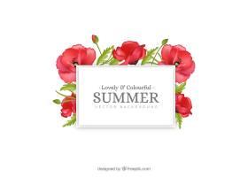 热带花卉的夏日背景_2306171