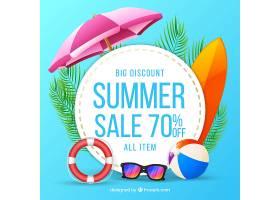 现实主义风格的夏季销售背景_2174992