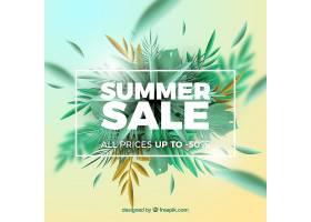 现实主义风格的夏季销售背景_2174993