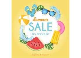 现实主义风格的夏季销售背景_2307335